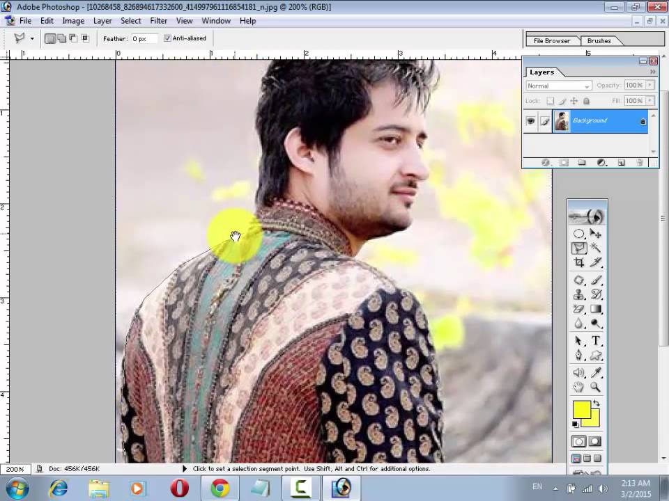 ... To Remove An image Background In Photoshop Urdu/Hindi | FunnyDog.TV