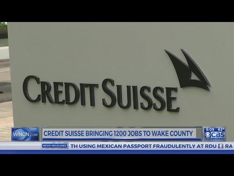 Credit Suisse adds 1,200 jobs in North Carolina
