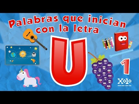 Words that start with the letter U in Spanish for children - Videos Aprende