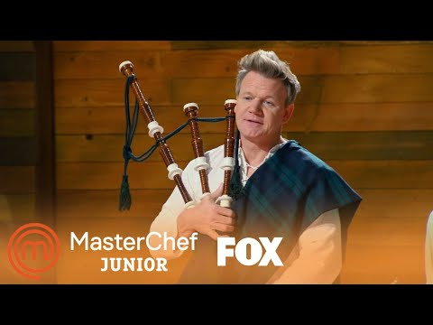 Gordon Ramsay Plays The Bagpipes | Season 6 Ep. 6 | MASTERCHEF JUNIOR