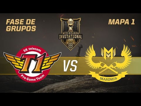 SK TELECOM 1 VS GIGABYTE MARINES - MID-SEASON INVITATIONAL -