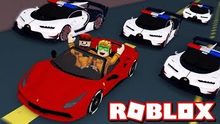RUNNING FROM COPS WITH MY AWESOME BRAND NEW CAR in ROBLOX JAILBREAK