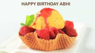 AbhiAbby   Pronounced like Abby   Ice Cream & Helados y Nieves - Happy Birthday