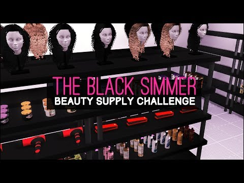 👑THE SIMS 4 SPEED BUILD || THE BLACK SIMMER BEAUTY SUPPLY STORE CHALLENGE || PART ONE ✨