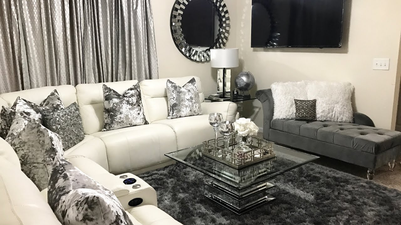 Captivating Glam Living Room Tour | Home U0026 Decor Updates 2017 | LGQUEEN Home Decor