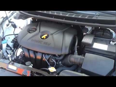 new hyundai elantra sedan engine bay review youtube 2002 Hyundai Santa Fe Engine Diagram