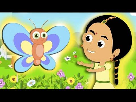 പൂമ്പാറ്റ  Poombatta - Malayalam Kids Songs | Kutti Paatugal