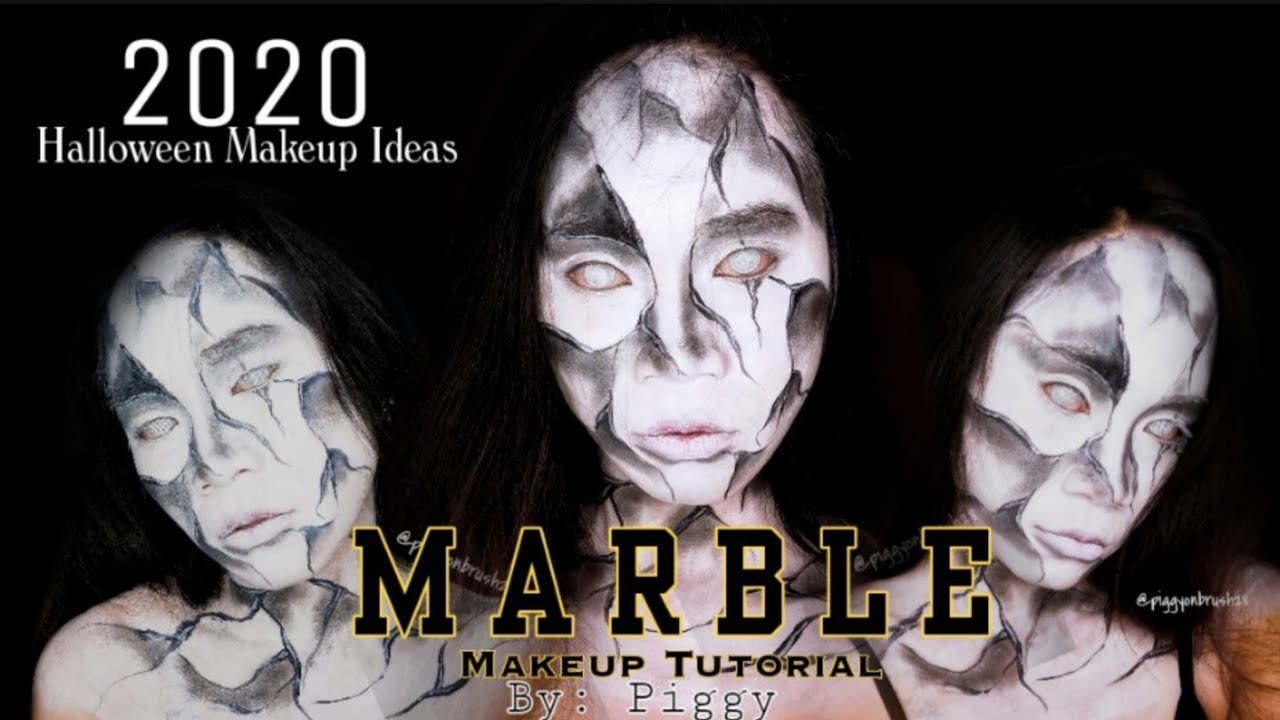 Marbles Halloween 2020 MARBLE Makeup Tutorial plus Unboxing our parcel// 2020 Halloween