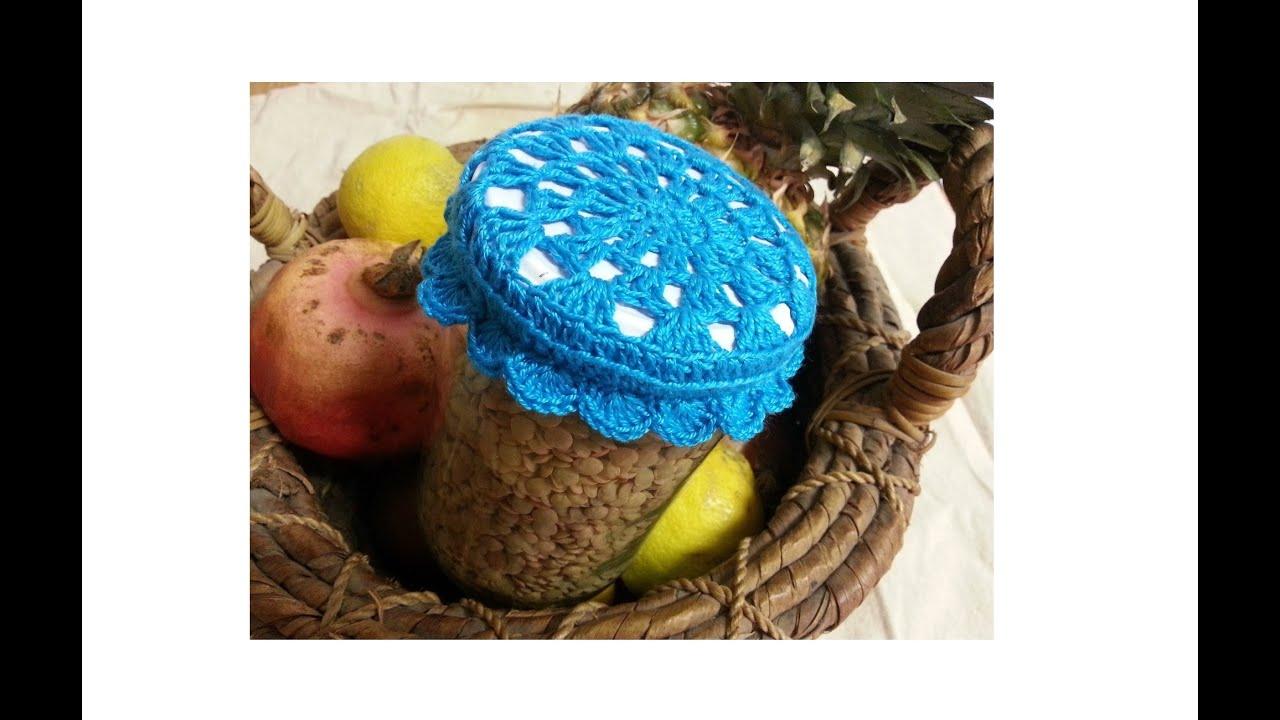 Tutorial Crochet  Ganchillo  Tapa Bote  Tarro  1