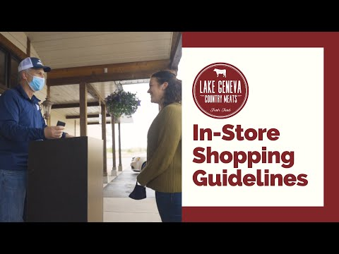 Guidelines for in-store shopping at LGCM