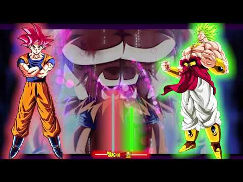 Goku Mastered U I Vs Broly God Super Saiyan 4 Sege Power Levels V1