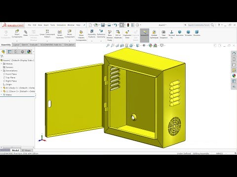 Solidworks sheet metal tutorial | Design of Electrical enclosure in Solidworks