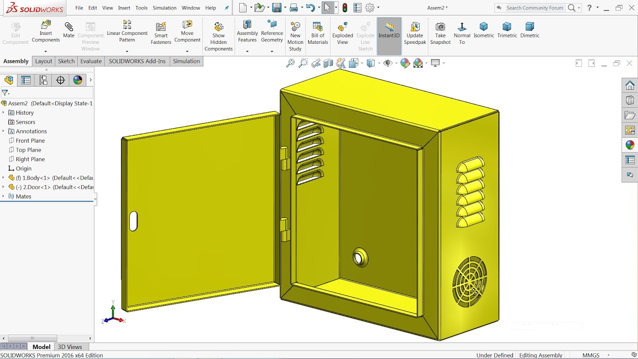 Solidworks Sheet Metal Tutorial Design Of Electrical