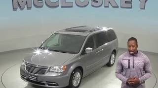 A98975GT Used 2013 Chrysler Town & Country Limited Passenger Mini Van Gray  Review, For Sale -