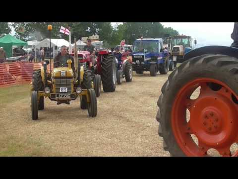 The grand parade of tractors at the Bloxham steam rally, June 2017