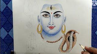 Lord Shiva drawing , H๐w to draw Shivaratri , shivratri drawing , part 2
