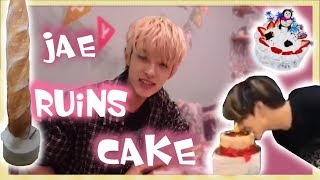 day6 jae ruining cakes for 7 minutes straight and eating
