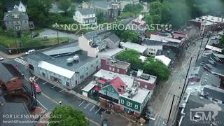 05-27-2018 Ellicott City, MD - Aerial drone footage historic flooding Ellicott City