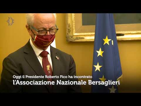 Il Presidente Fico incontra l'Associazione Nazionale Bersaglieri