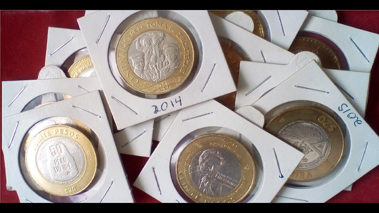 Todas las monedas de 20 pesos. ¡CONOCELAS!