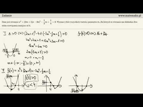 Zadanie - Równanie Kwadratowe Z Parametrem
