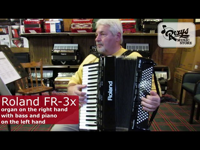 Accordion and Organ sounds on the Roland FR-3x