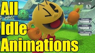 all 51 smash bros wii u character s idle animations over 100 animations