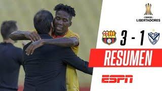 ¡DE LA MANO DE PERLAZA, BARCELONA LOGRÓ LA HAZAÑA! | Barcelona SC. 3-1 Vélez | RESUMEN