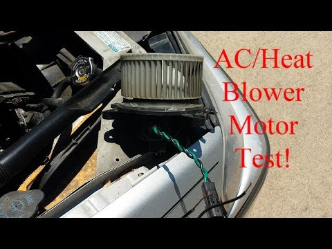 How to Test Vehicle AC/Heat Blower Motor to Tell if BAD