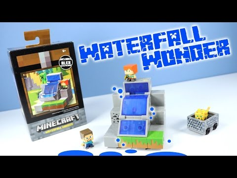 Thumbnail: Minecraft Mini-Figures Cave Biome Collection Waterfall Wonder 4 of 4