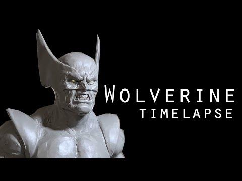 Wolverine - 1:6 scale sculpture timelapse using super sculpey.