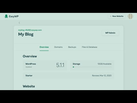 Set up your website in under a minute with EasyWP