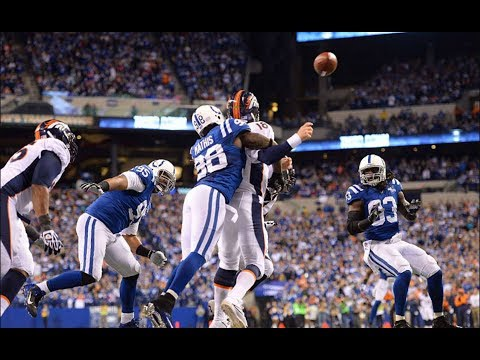 Robert Mathis Sacks Peyton and Causes Safety || Colts vs. Broncos 2013