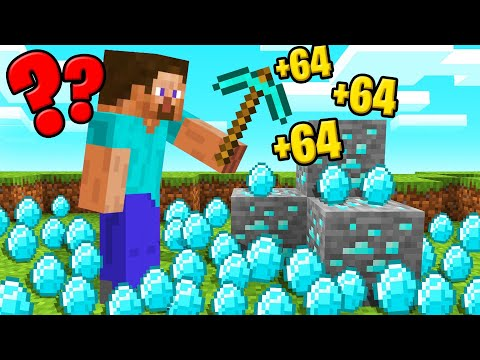MINECRAFT But ALL DROPS MULTIPLY!