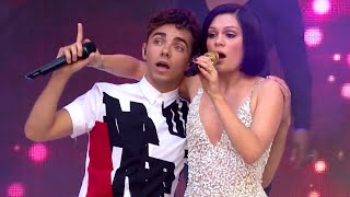 Repeat youtube video Jessie J Ft. Nathan Sykes - Calling All Hearts (Summertime Ball 2014)