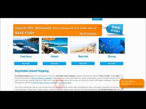 How to book a Seychelles fast ferry with Seychellesbookings.com
