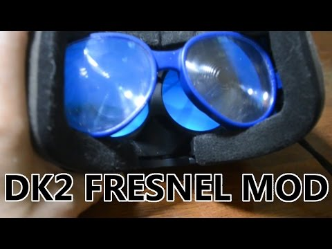 Oculus DK2 with fresnel lenses from Wearality