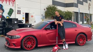 SURPRISING MY BROTHER WITH NEW FORGIATO'S ON HIS HELLCAT! *CRAZY REACTION*