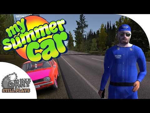 Police Encounters, How To Pass a Finnish Breathalyzer Test - My Summer Car Gameplay Highlights Ep 13