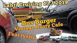 Lahti Cruising 13.7.2019, Vintage Cafe, Bus Burger.