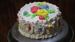 চুলায় তৈরি বাটার ক্রীম কেক - বার্থডে কেক | Butter Cream Cake | Birthday Cake