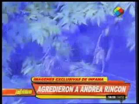 """Andrea Rincón se agarró a golpes con un """"trapito"""""""