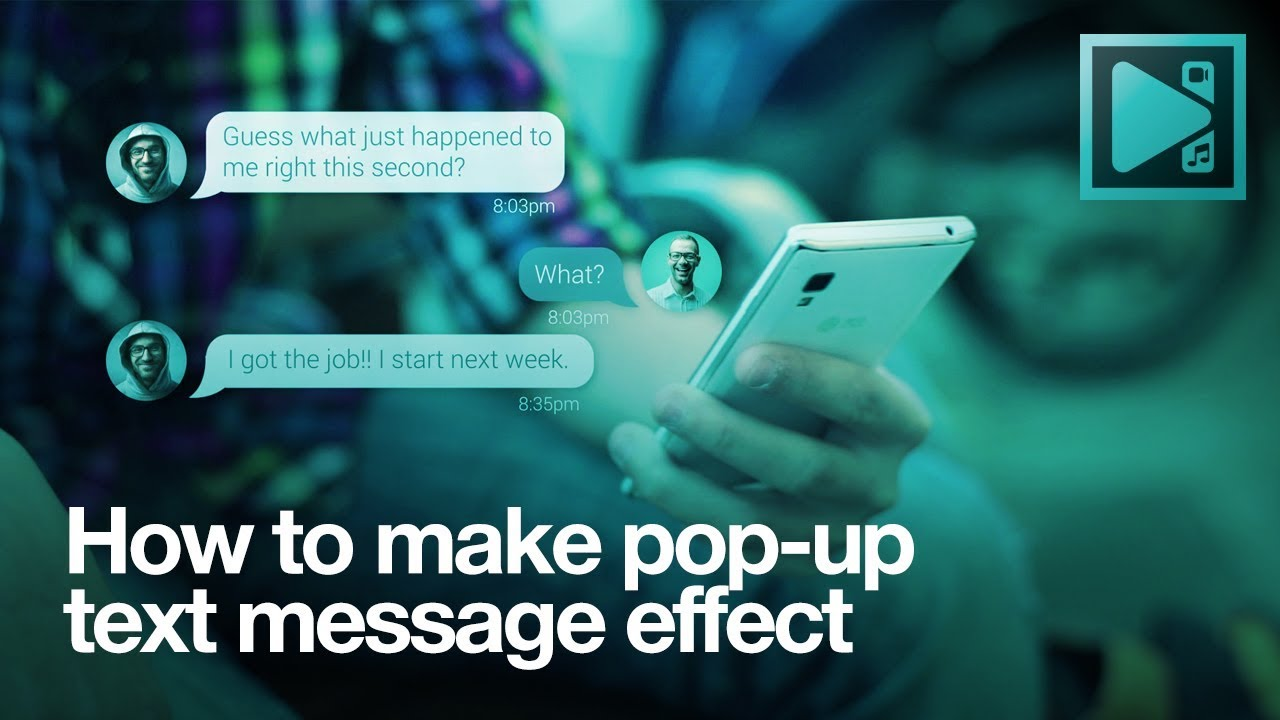 Lifehack: make a pop-up text message effect with VSDC Free Video Editor