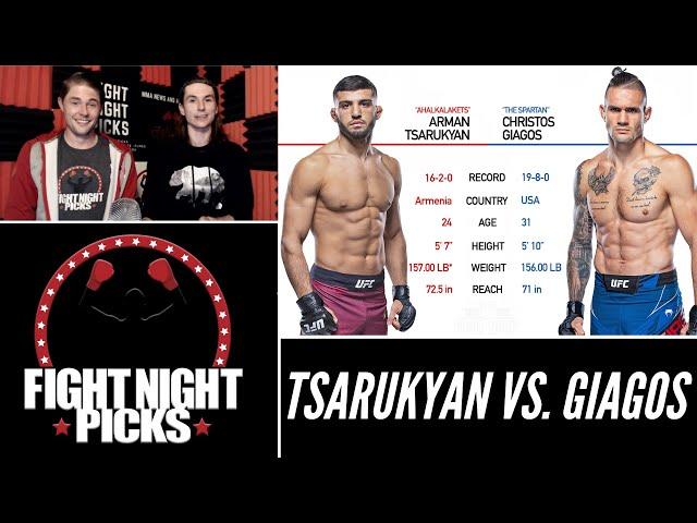 UFC Fight Night: Arman Tsarukyan vs. Christos Giagos Prediction