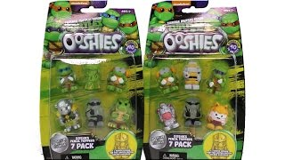 Teenage Mutant Ninja Turtles Ooshies 7 Pack Pencil Toppers Series 1 Unboxing Toy Review