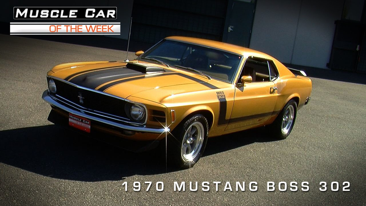 Muscle car of the week video episode 84 ford mustang boss 302 video youtube