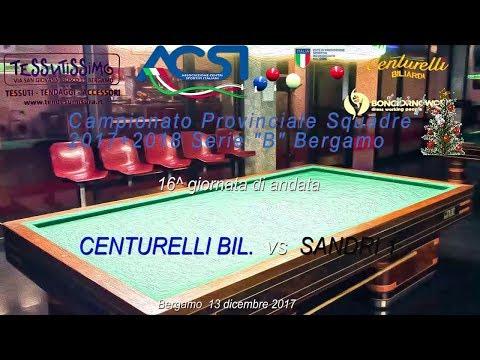 "Campionato Serie ""B"" Bergamo 16^ andata - Live stream di Rosario Velardo"