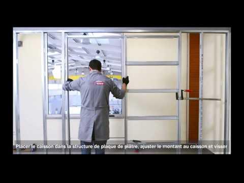Edac montage des plaques de pl tre sur le ch ssis g for Video montage porte a galandage