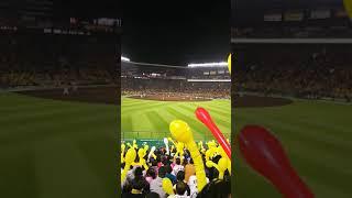 今シーズン甲子園初戦、対広島 ライトスタンドからのあとひとりコール.