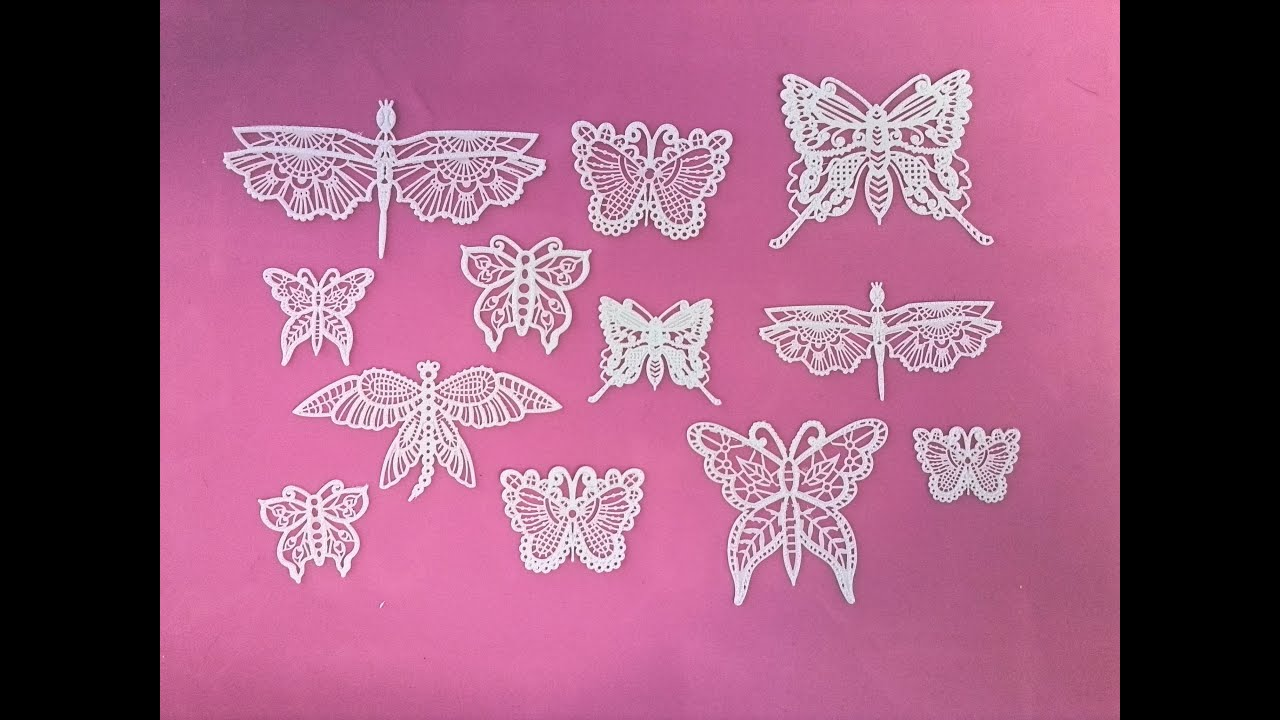 How To Make Cake Lace Butterflies Youtube